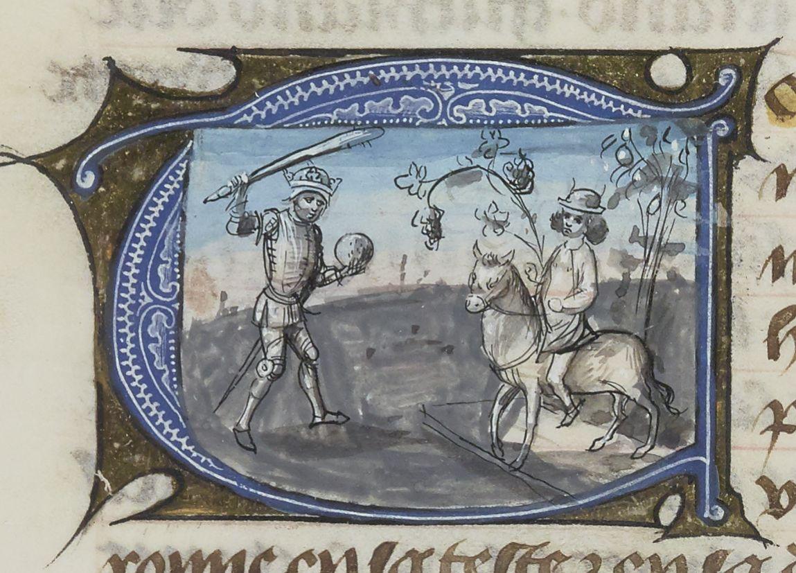 Paris, BnF, français 137. Ovide moralisé (prose bourguignonne). Hercules. Bacchus. Louis de Bruges.