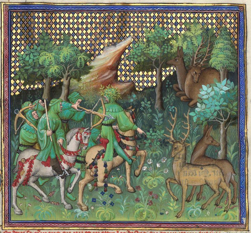Paris, BnF, français 616. Gaston Fébus de Foix-Béarn. Livre de la chasse. Deer hunting.
