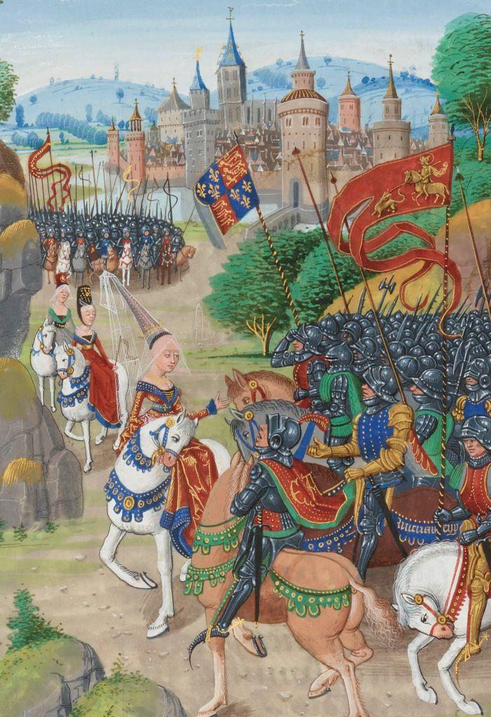 Paris, BnF, français 2643. Jean Froissart. Anne of Bohemia. Richard II of England. Battle of Ottenburn, 1388.