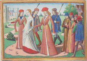 Paris, BnF, français 5054. Martial d'Auvergne. Vigiles de la mort de Charles VII. Joan of Arc. Jeanne d'Arc. Chinon. Vaucouleurs. Illuminated manuscript.