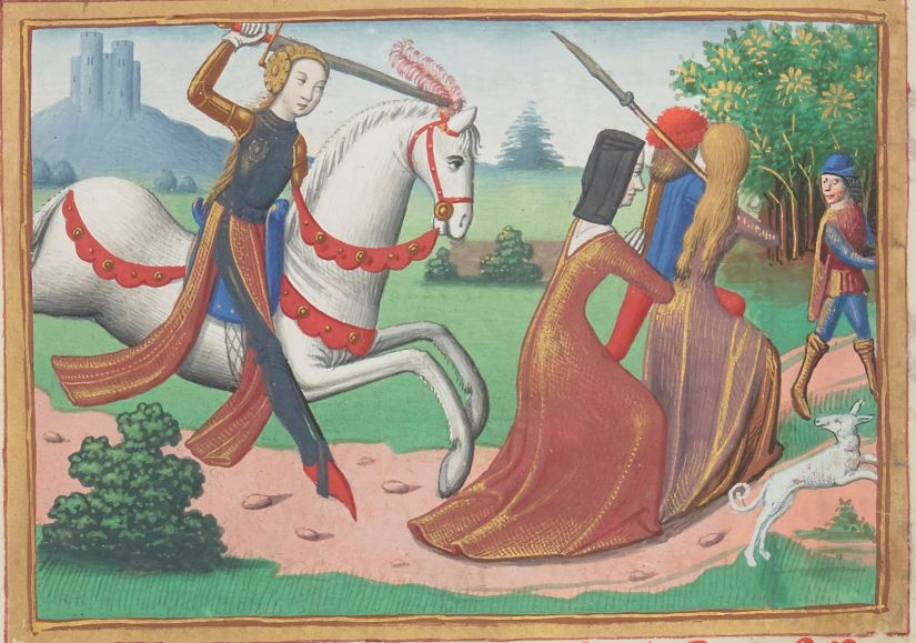 Paris, BnF, français 5054. Martial d'Auvergne. Vigiles de la mort de Charles VII. Jeanne d'Arc. Joan of Arc. Prostituées. Prostitutes.