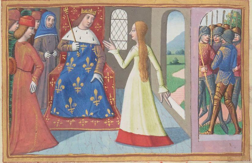 Paris, BnF, français 5054. Martial d'Auvergne. Vigiles de la mort de Charles VII. Joan of Arc. Jeanne d'Arc. Charles VII.