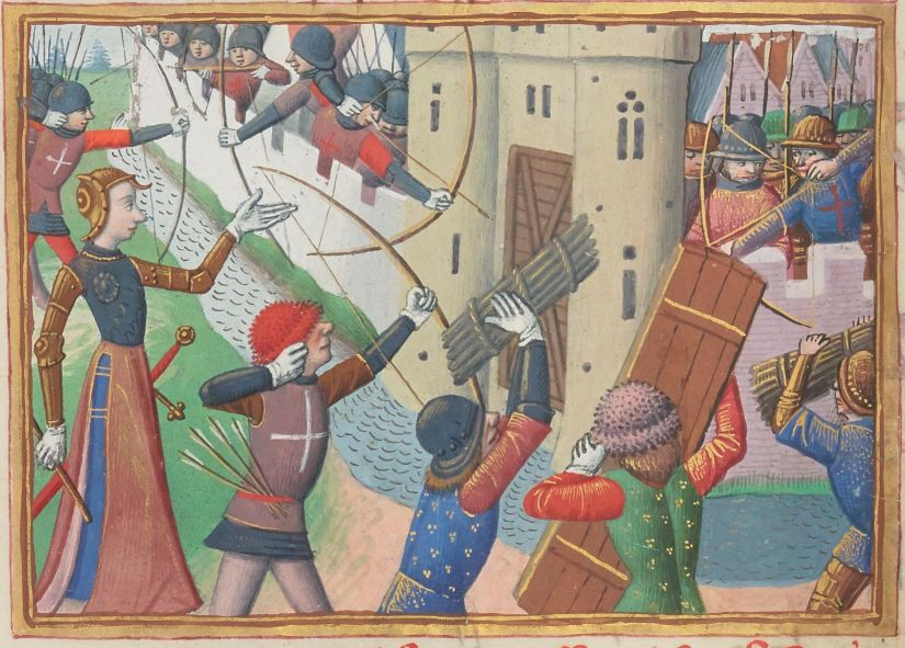 Paris, BnF, français 5054. Martial d'Auvergne. Vigiles de la mort de Charles VII. Jeanne d'Arc. Joan of Arc. Paris. Illuminated manuscript.