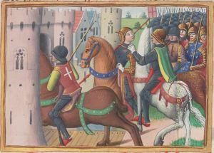 Paris, BnF, français 5054. Martial d'Auvergne. Vigiles de la mort de Charles VII. Illuminated Manuscript. Joan of Arc. Jeanne d'Arc. Compiègne.