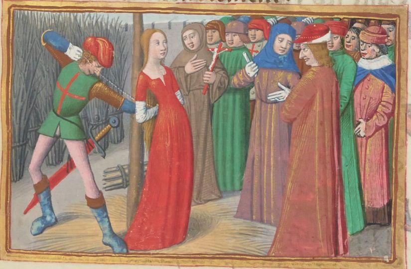 Paris, BnF, français 5054. Martial d'Auvergne. Vigiles de la mort de Charles VII. Joan of Arc. Jeanne d'Arc. Rouen. Illuminated manuscript.