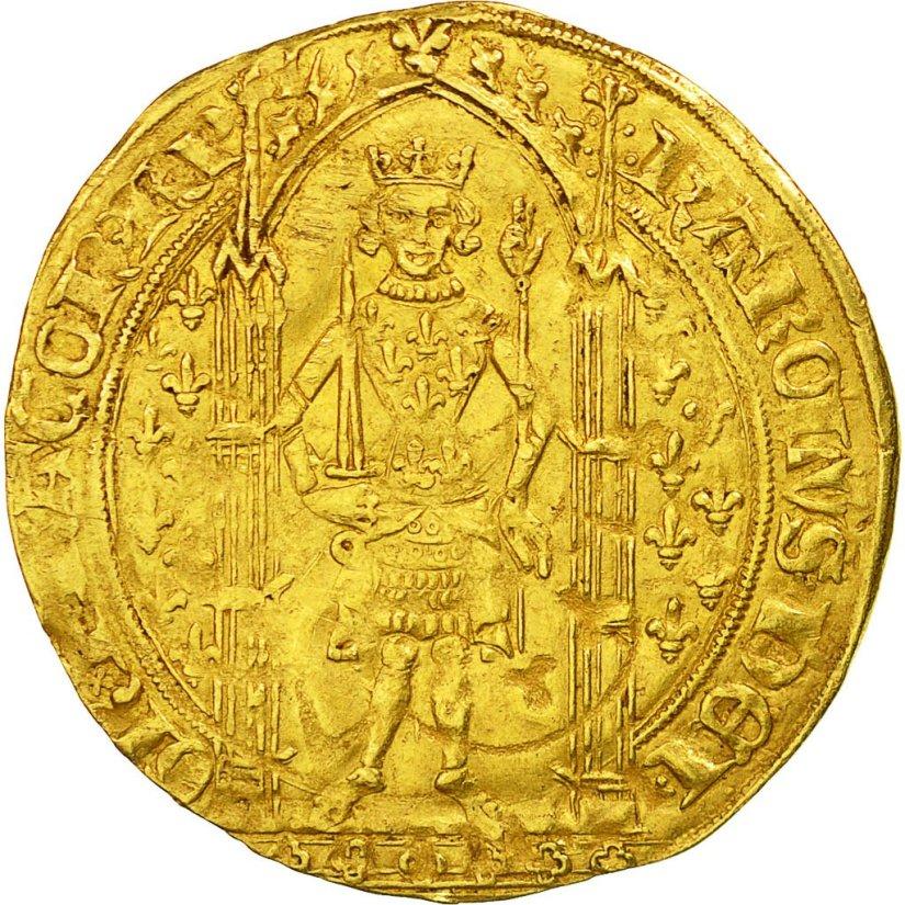 Franc. Charles V France. Gold.