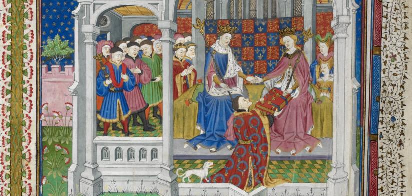 London, British Library, Royal MS 15 E VI. John Talbot. Talbot Book. Margaret of Anjou. Henry VI of England.