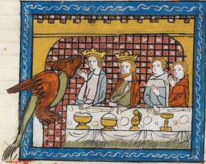 Illuminated Manuscript. Alexander the Great. British Library. Royal MS 19 D I. Le Roman d'Alexandre en prose. Prose Alexander-Romance
