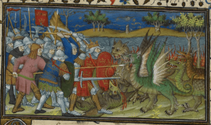 Illuminated Manuscript. Alexander the Great. British Library. Royal MS 20 B XX. Le Roman d'Alexandre en prose.