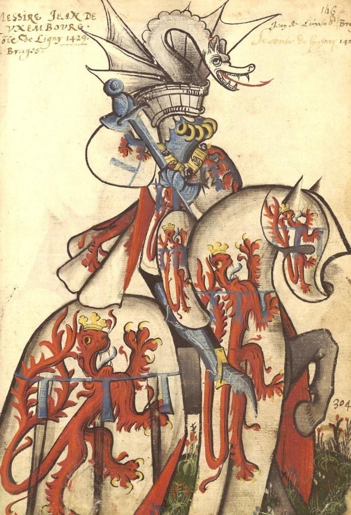 Paris, Arsenal, ms. 4790. Armorial de la Toison d'Or. Jean de Luxembourg.