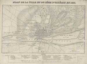 Map. Orléans. 1428, 1429. Joan of Arc. Jollois. Harttweig