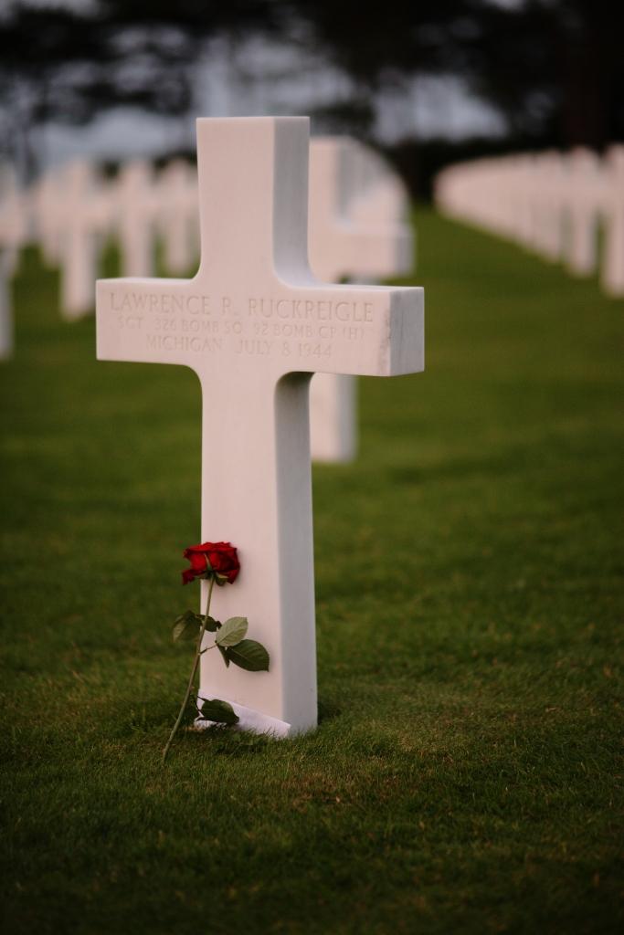 American tomb. Omaha Beach.