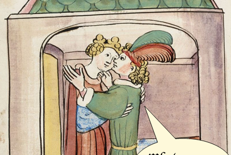 Medieval Meme. Unhooking a Bra