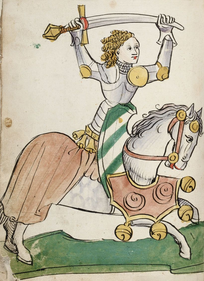 Tristan and Iseult. Illuminated Manuscript. Knight. Brussels, KBR, ms. 14697.