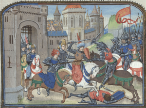 Illuminated Manuscript. Brussels, KBR, ms. 9392. Christine de Pisan. Loyset Liedet. Jean Miélot. Pentesilea. Queen of the Amazons. Women in Armours.