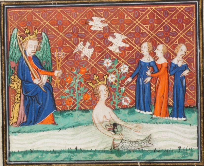 Geneva, Municipal Library, français 176. Ovide moralisé. Venus. Cupido. The Three Graces.