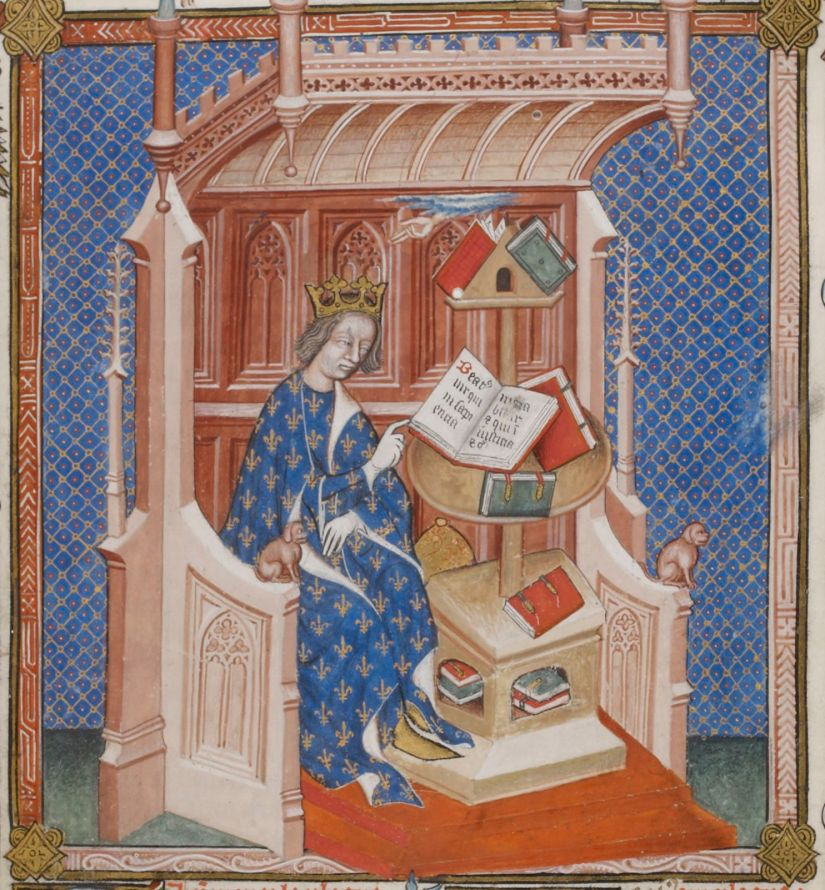 Paris, BnF, français 24287. John of Salisbury. Policraticus. Charles V of France. Royal French Library.