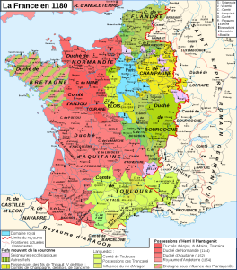 Map. The Kingdom of France in 1180
