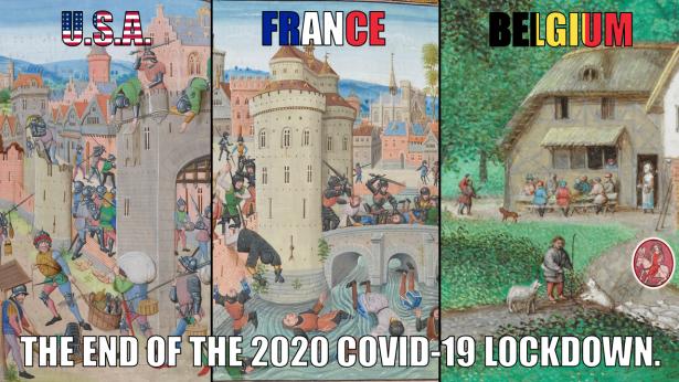 Medieval Meme. Covid-19 Lockdown. 2020