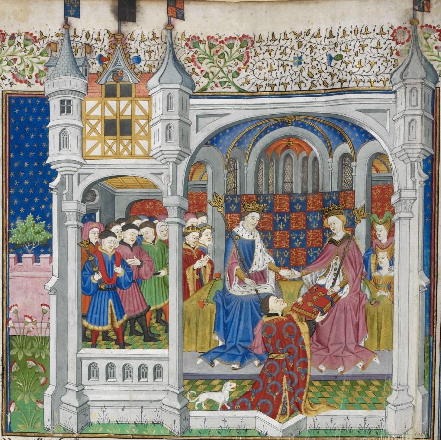 Illuminated manuscript. Wedding.