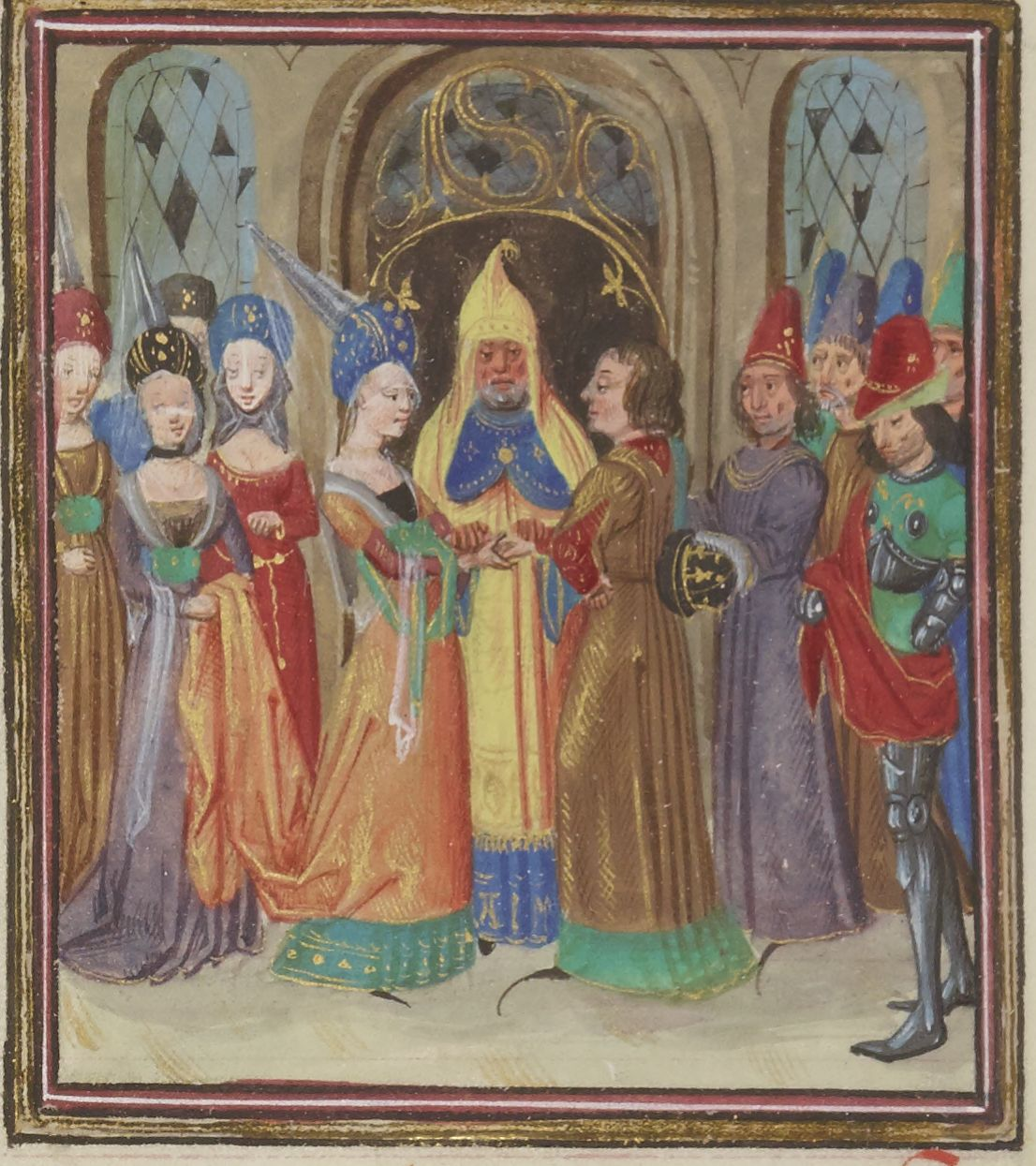 Iluminated manuscript. Wedding. Alexander the Great.