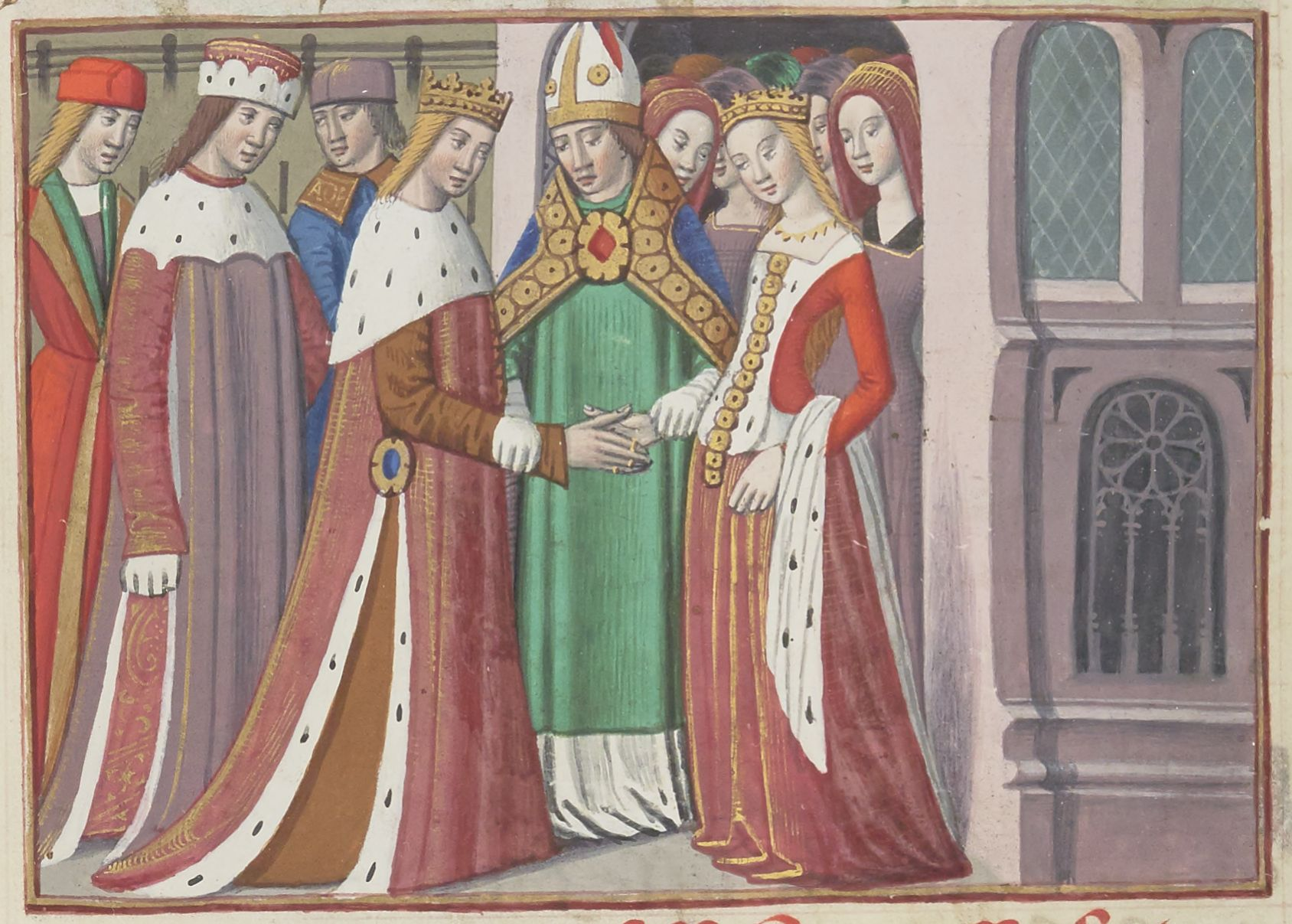 Illuminated Manuscript. Wedding. Henry VI of England.