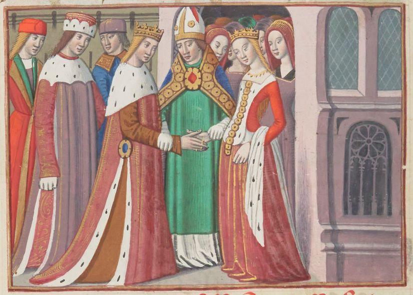 Illuminated Manuscript. Wedding. Henry VI of England.