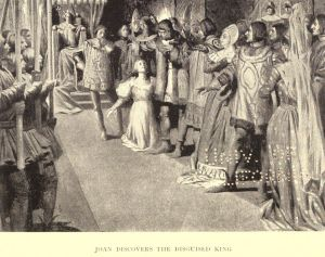 Mark Twain. Joan of Arc. Frand Du Mond (1896). Joan discovers the disguised king.