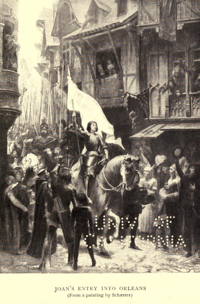 Mark Twain. Joan of Arc. Frand Du Mond (1896). Joan's entry into Orléans (from a painting by Scherrer)