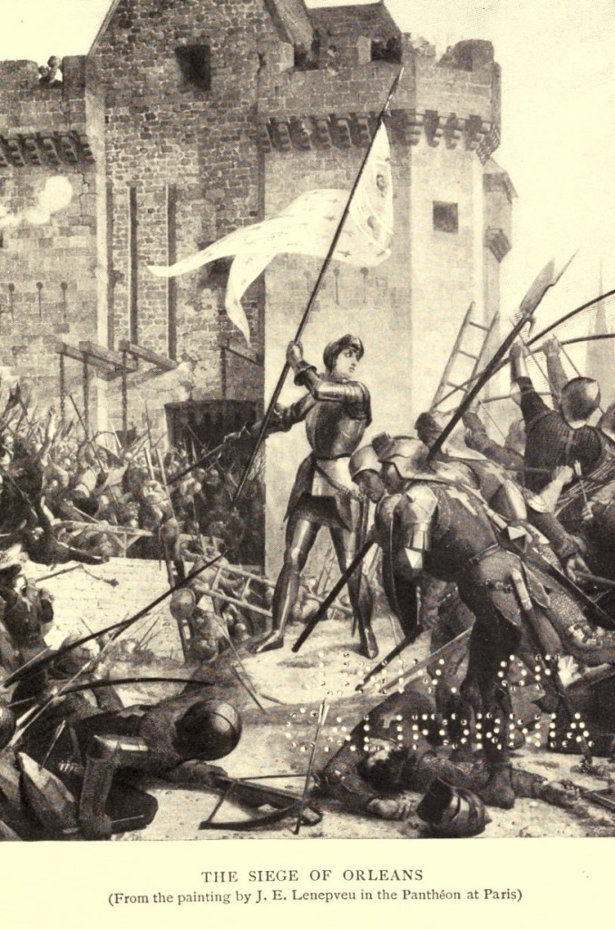 Mark Twain. Joan of Arc. Frand Du Mond (1896). The Siege of Orléans (From the painting by J. E. Lenepveu in the Panthéon at Paris)