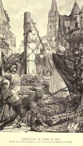 Mark Twain. Joan of Arc. Frand Du Mond (1896). Execution of Joan of Arc (From the mural painting by J. E. Lenepveu in the Panthéon at Paris)