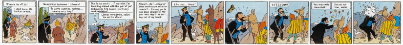 The Adventures of Tintin: Prisoners of the Sun. Captain Haddock and the Angry Llama.
