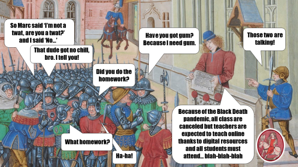 Medieval Meme. Online Teaching.