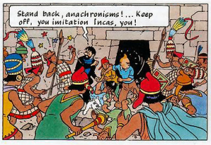 The Adventures of Tintin: Prisoners of the Sun. Captain Haddock and the Anachronisms.