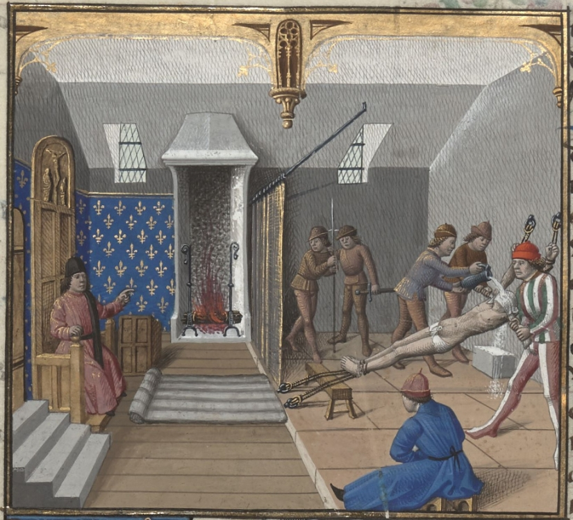 Medieval illumination. Torture. Waterboarding.